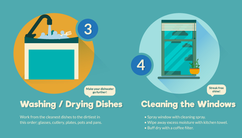 3 and 4 cleaning tips
