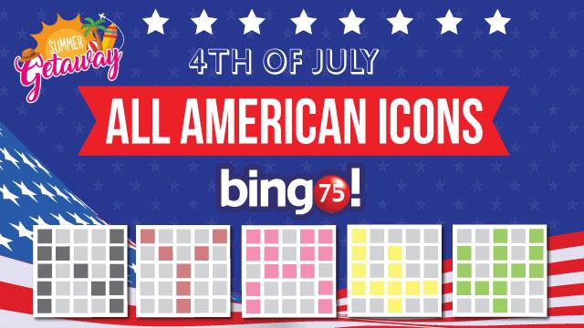 all american icons bingo75