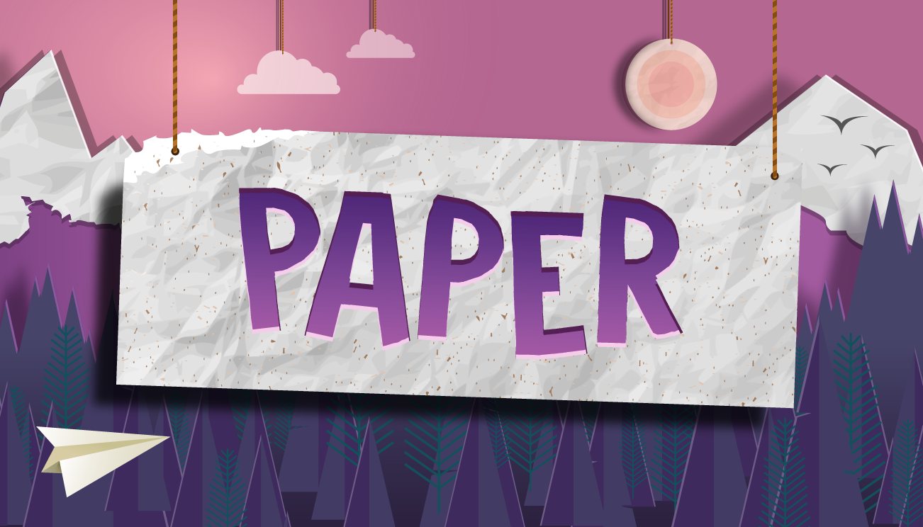 Paper games page header image