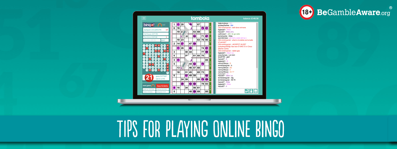 tips for playing online bingo header
