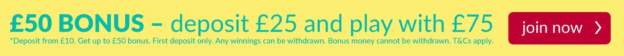 bingo75 welcome banner